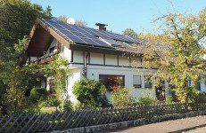 solar power on a residential home